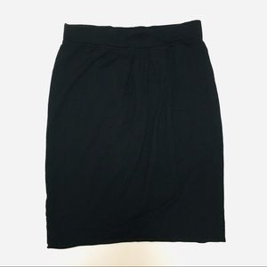 4/$25 Cabi Faux Wrap Skirt in Black Size Small